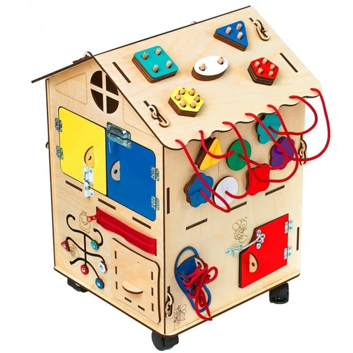 Картинка для Деревянная игрушка Нумикон Игры Монтессори большой БизиДом со светом