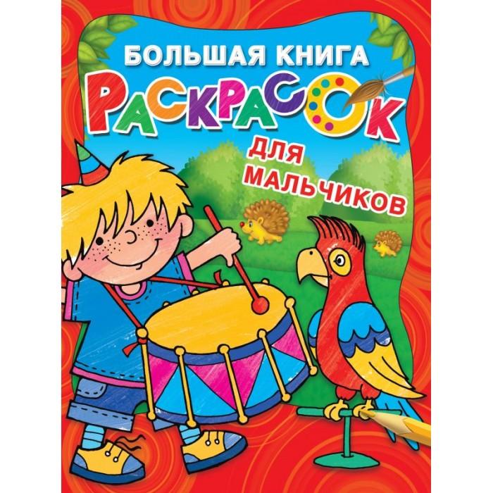 Раскраски Издательство АСТ Большая книга для мальчиков издательство аст большая книга раскрасок для малышей л двинина