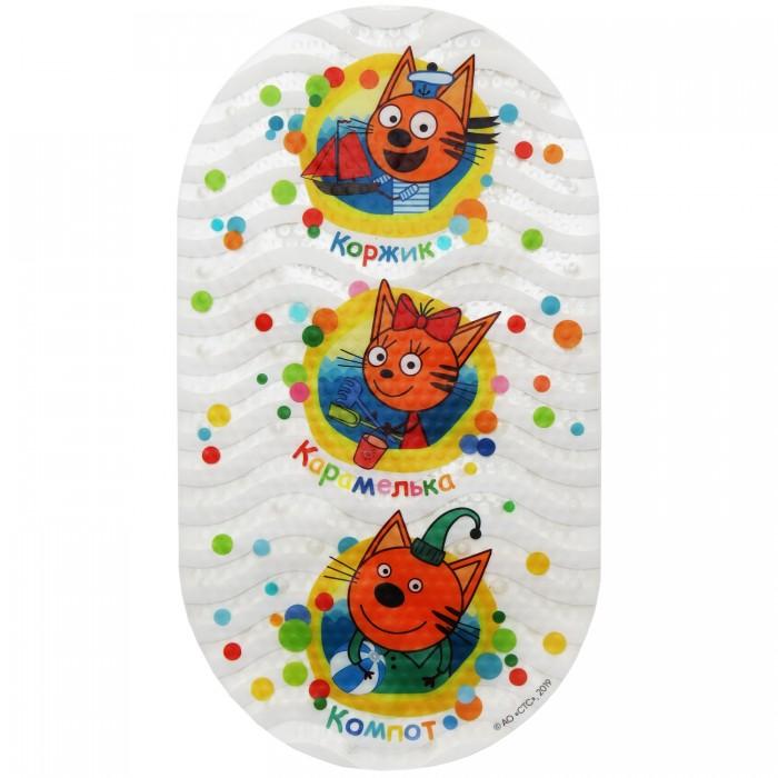 Коврик Три кота для ванны Три эмблемы 68х38 см