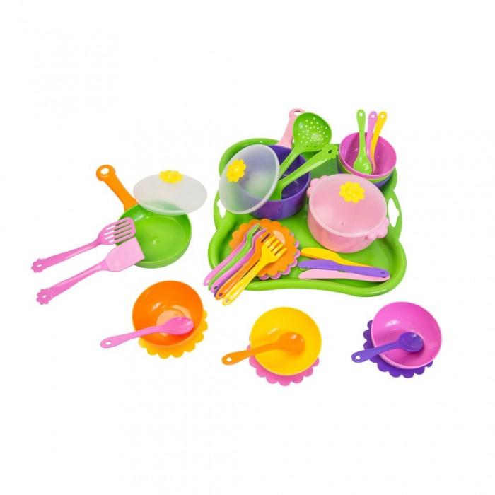 Купить Ролевые игры, Tigres Набор посуды столовый Ромашка (43 элемента)
