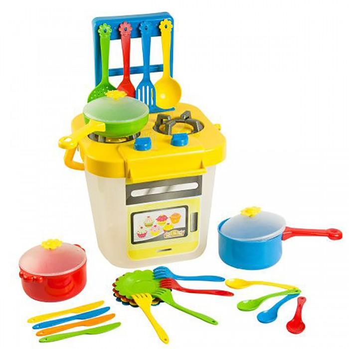 Купить Ролевые игры, Tigres Набор посуды столовый Ромашка с кухонной плиткой (29 элементов)