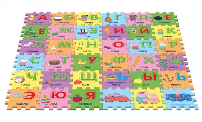 Игровой коврик Peppa Pig Пазл Учим азбуку с Пеппой (36 сегментов)Пазл Учим азбуку с Пеппой (36 сегментов)Игровой коврик Рерра Pig Пазл Учим азбуку с Пеппой (36 сегментов). Игровой коврик-пазл с вынимающимися буквами, 36 сегментов, размер сегмента - 15 х 15 х 1 см.   Основные характеристики: знакомство с буквами и цветами, развитие памяти, мелкой моторики слова и образы из м/ф Свинка Пеппа материал - EVA.<br>