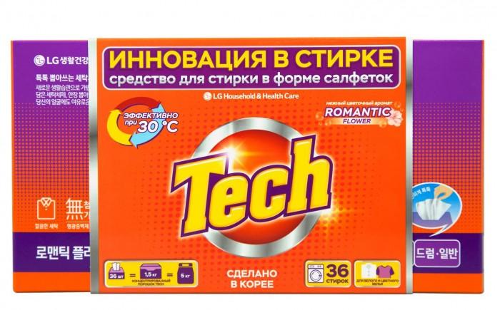 Бытовая химия Tech Средство для стирки в листах Romantic flower 36 шт.