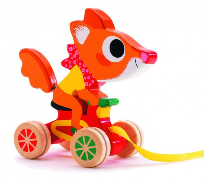 игры и игрушки для детской Каталки-игрушки Djeco на веревочке Лисенок