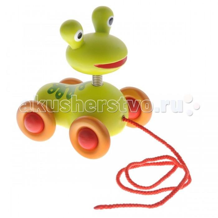Каталка-игрушка Djeco Лягушка ПисташЛягушка ПисташКаталка Лягушка Писташ – незаменимый помощник для детей, которые еще только учатся ходить. Яркая и симпатичная каталка в виде лягушки превратит непростое для малыша занятие, его первые шаги, в веселое и занимательное времяпрепровождение.   Игрушку можно не только тащить за собой на веревочке, но и катать ручкой. Каталка стимулирует моторные навыки, развивает ловкость, координацию движений, пространственное восприятие.  Французская компания Djeco производит развивающие игрушки и игры для детей, а также наборы для творчества и детали интерьера детской комнаты. Все товары Djeco отличаются высочайшим качеством, необычной идеей исполнения. Изображения и дизайн специально разрабатываются молодыми французскими художниками.<br>