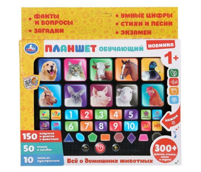 Электронные игрушки Умка Сенсорный планшет домашние животные 150 фактов и вопросов о животных 50 стихов электронные игрушки умка обучающий сенсорный планшет фикси викторина