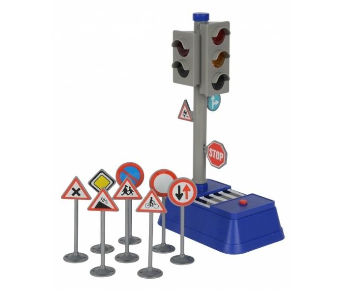 Машины Dickie Светофор с набором дорожных знаков