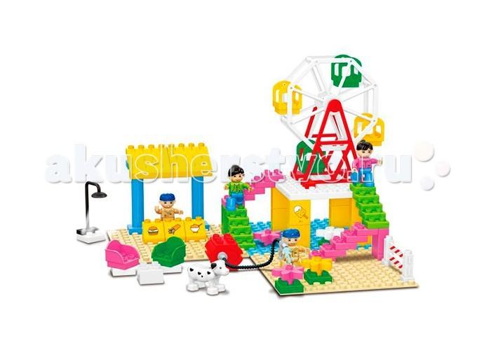 Конструктор Dr.Luck для маленьких Парк атракционов (74 детали)для маленьких Парк атракционов (74 детали)Конструктор Dr.Luck для маленьких Парк атракционов (74 детали) станет отличным решением для активных и любознательных малышей. Эта универсальная игрушка понравится всем без исключения, ведь каждый раз можно сконструировать что-то новое и необычное.   В большой картонной коробке вы сможете найти детали самых разнообразных форм и цветов, из которых можно собрать необычную карусель или целый парк аттракционов.   Входящие в комплект человечки способны оживить атмосферу и сделать игру ещё более реалистичной.<br>
