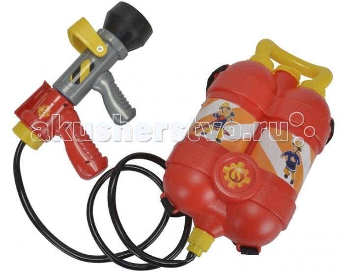 Игрушечное оружие Simba Пожарный Сэм Водный пистолет с рюкзаком 23 см