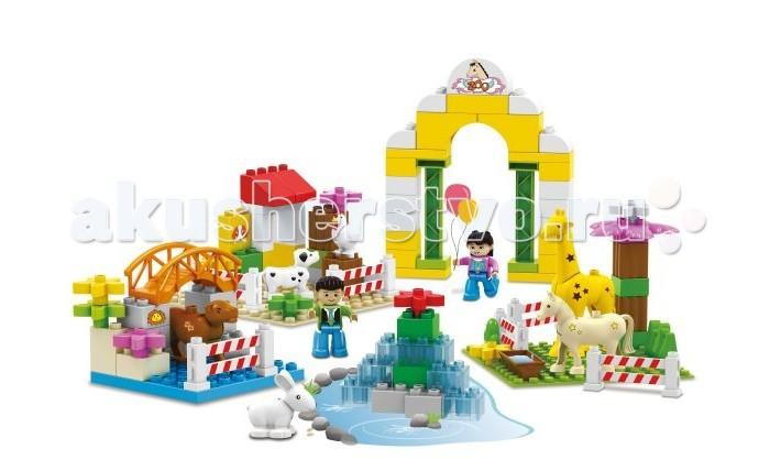 Конструктор Dr.Luck для маленьких Веселый зоопарк (95 деталей)для маленьких Веселый зоопарк (95 деталей)Конструктор Dr.Luck для маленьких Веселый зоопарк (95 деталей) станет отличным решением для активных и любознательных малышей.   В большой картонной коробке вы сможете найти детали самых разнообразных форм и цветов, из которых можно собрать целый зоопарк с животными.   Входящие в комплект человечки способны оживить атмосферу и сделать игру ещё более реалистичной.<br>