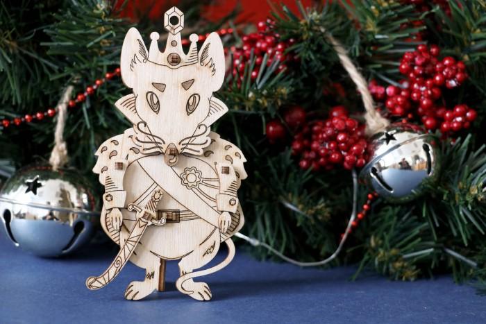 Деревянные игрушки Uniwood открытка Мышиный Король (9 деталей)