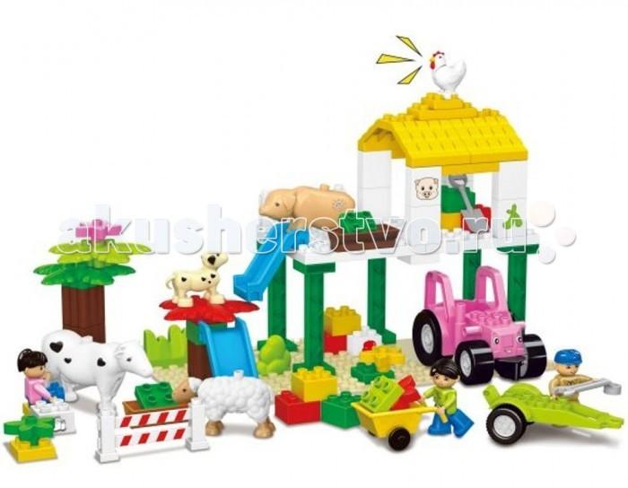 Конструктор Dr.Luck для маленьких Веселая ферма (77 деталей)для маленьких Веселая ферма (77 деталей)Конструктор Dr.Luck для маленьких Веселая ферма (77 деталей) станет отличным решением для активных и любознательных малышей. Универсальная игрушка понравится всем без исключения, ведь каждый раз можно сконструировать что-то новое и необычное.   В большой картонной коробке вы сможете найти детали самых разнообразных форм и цветов, из которых можно собрать целый ферму со специальной техникой и животными. Входящие в комплект человечки способны оживить атмосферу и сделать игру ещё более реалистичной.<br>