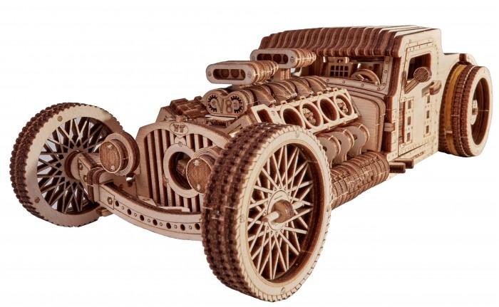 Купить Сборные модели, Wood Trick Механический 3D-пазл Хот Род