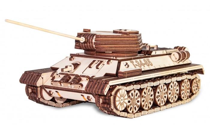 Купить Сборные модели, Eco Wood Art Механическая модель Танк Т-34