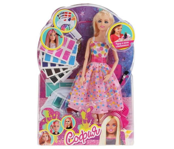 Куклы и одежда для кукол Карапуз Кукла София-модница с красками и аксессуарами для волос 29 см