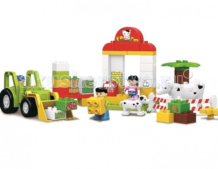 Конструктор Dr.Luck для маленьких Маленькая ферма (52 детали)для маленьких Маленькая ферма (52 детали)Конструктор Dr.Luck для маленьких Маленькая ферма (52 детали) игрушка, которую дети должны собрать самостоятельно. От этого игровой процесс становится еще более увлекательным, ведь ребенок самостоятельно создает себе игрушку из элементов набора.  Собрав все части воедино, у ребенка получится небольшая ферма с загоном для коровы, собачкой, трактором и двумя рабочими.  Игра с фигуркой развивает мелкую моторику рук, фантазию и пространственное мышление.<br>