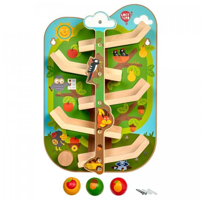 Купить Деревянные игрушки, Деревянная игрушка Lucy & Leo Горка настенная Лесные будни
