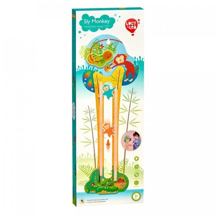 Деревянные игрушки Lucy Leo Горка настенная Хитрая обезьянка недорого