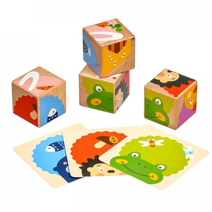Купить Деревянные игрушки, Деревянная игрушка Lucy & Leo Набор кубиков Угадай кто?