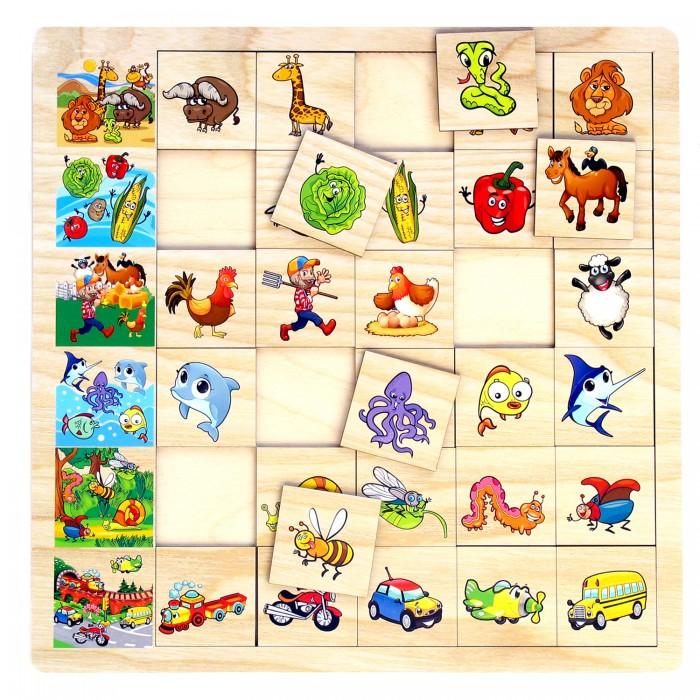 Деревянные игрушки Paremo Игровой набор Ассоциации paremo обучающая игра paremo ассоциации 30 элементов