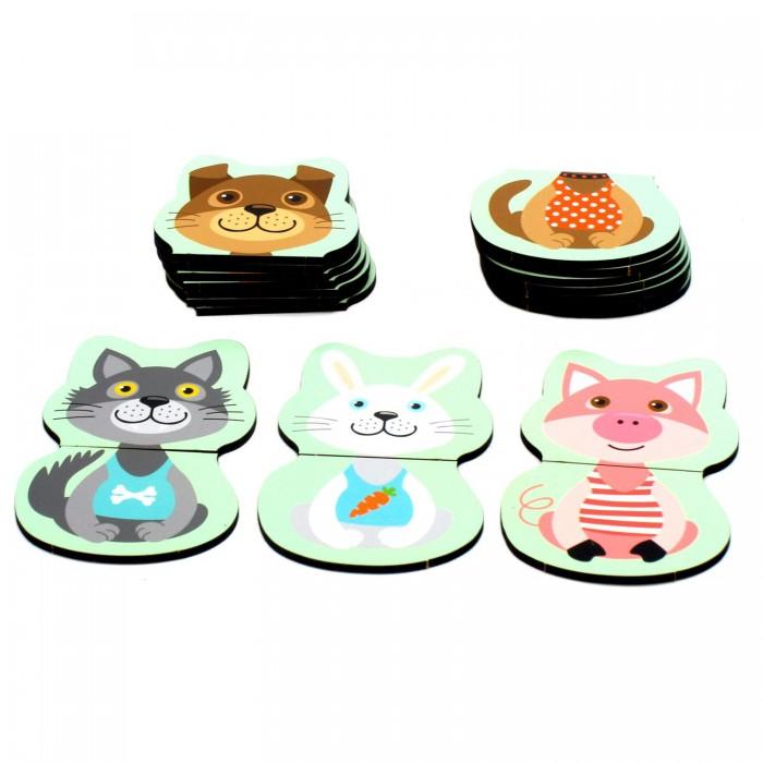 Фото - Деревянные игрушки Paremo Игровой набор Собери половинки деревянные игрушки paremo игровой набор чей хвост