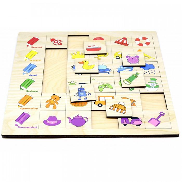 Купить Деревянные игрушки, Деревянная игрушка Paremo Игровой набор Ассоциации Цвет