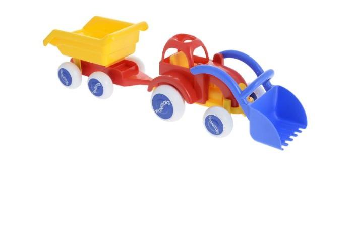 Viking Toys Трактор с ковшом и прицеп Midi фото