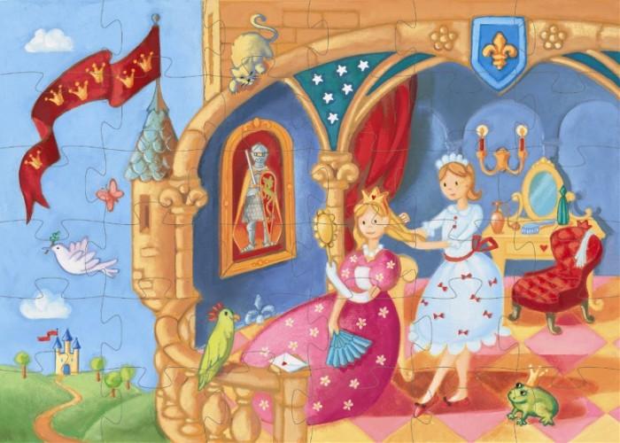 Пазлы Djeco Пазл Царевна-лягушка 36 элементов деревянные игрушки djeco головоломка пазл лило
