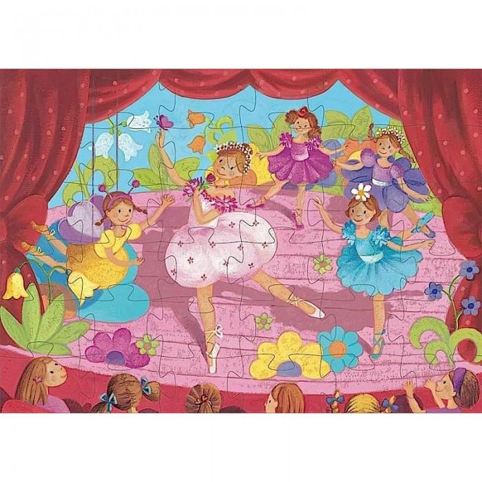 Пазлы Djeco Пазл Балерина с цветами 36 элементов а круглова а николаев развивающие игры для детей