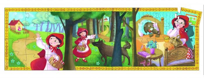 Пазлы Djeco Пазл Красная шапочка 36 элементов деревянные игрушки djeco головоломка пазл лило
