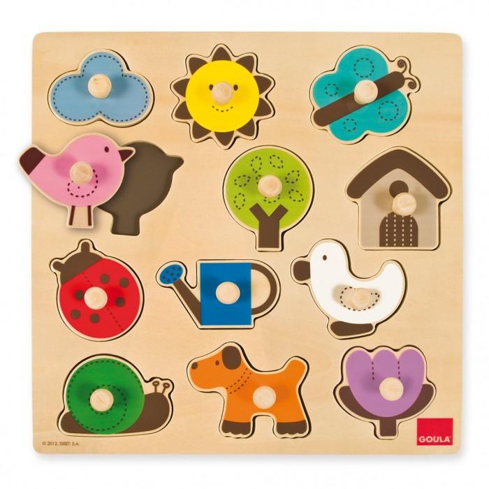 Купить Деревянные игрушки, Деревянная игрушка Goula Пазл На улице