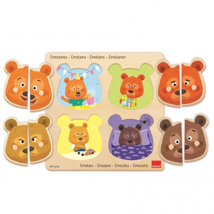 Купить Деревянные игрушки, Деревянная игрушка Goula Пазл Эмоции
