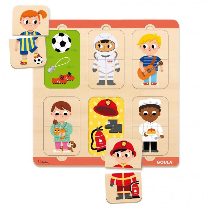 Картинка для Деревянные игрушки Goula Пазл Профессия