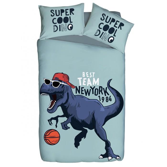 Купить Постельное белье 1.5-спальное, Постельное белье Winkiki 1.5 спальное Динозавр футболист (3 предмета)