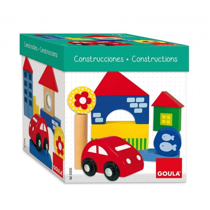 Купить Деревянные игрушки, Деревянная игрушка Goula Конструктор Городок 26 шт.