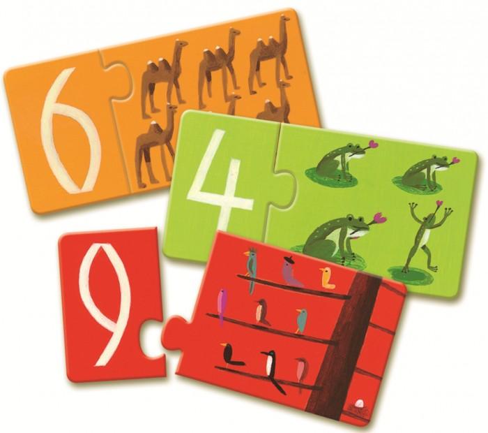 Игры для малышей Djeco Игра Пары - цифры djeco обучающая игра цифры
