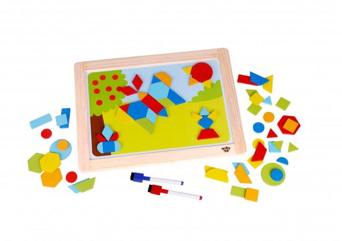 Купить Деревянные игрушки, Деревянная игрушка Tooky Toy Магнитная игра Формы