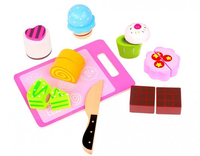 Деревянные игрушки Tooky Toy набор Чаепитие