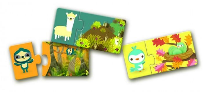 Игры для малышей Djeco Пазл дуо Прятки раскраски djeco набор для творчества прятки