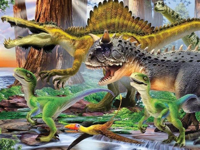Пазлы Prime 3D Пазл Super 3D Хищные динозавры (100 деталей) пазлы prime 3d пазл super коллаж кошки 500 деталей