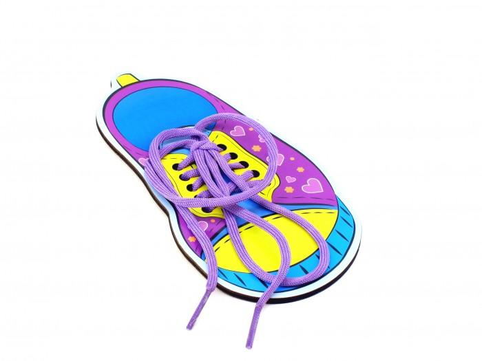 Деревянные игрушки Paremo Игровой набор Шнуровка Обувь