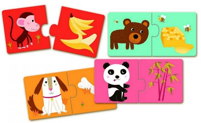 Игры для малышей Djeco Пазл–дуо К столу! djeco пазл для малышей лесные животные