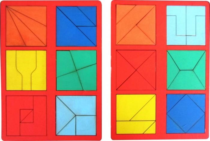 Фото - Раннее развитие Стеша Фетровый набор Квадрат Никитина 2 Уровень деревянные игрушки tau toy головоломка никитина собери квадрат 7 28х28 см