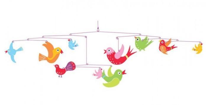 Аксессуары для детской комнаты Djeco Мобиль Красочный полет, Аксессуары для детской комнаты - артикул:86292