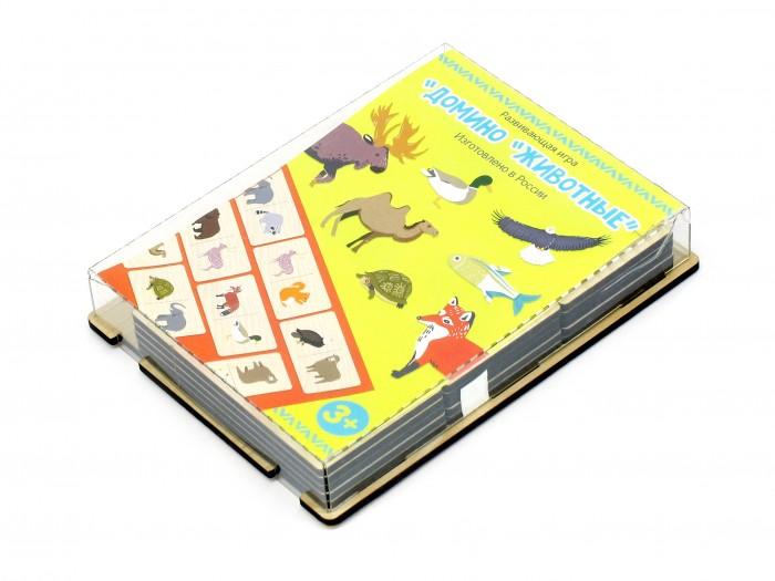 Деревянные игрушки Paremo Игровой набор Домино Животные