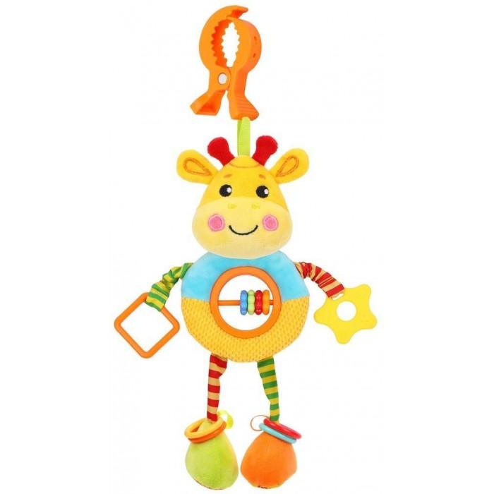 Подвесные игрушки Жирафики большая с погремушками, пищалкой и шуршалкой Жирафик цена 2017