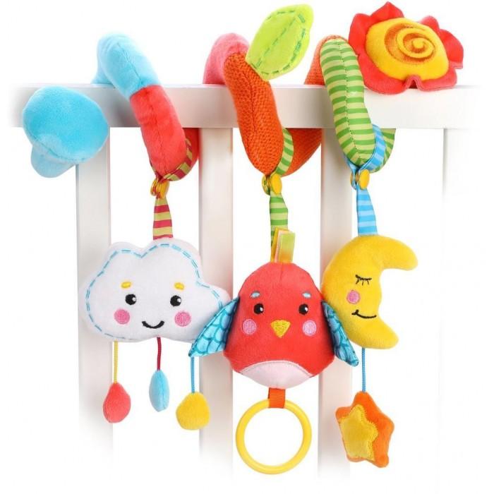 Жирафики Растяжка с развивающими игрушками съемными Лесная сказка