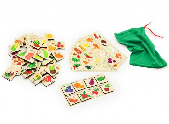 Купить Деревянные игрушки, Деревянная игрушка Paremo Игровой набор Лото грибы-ягоды