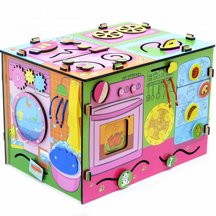 Деревянные игрушки Paremo Бизиборд Юная хозяйка