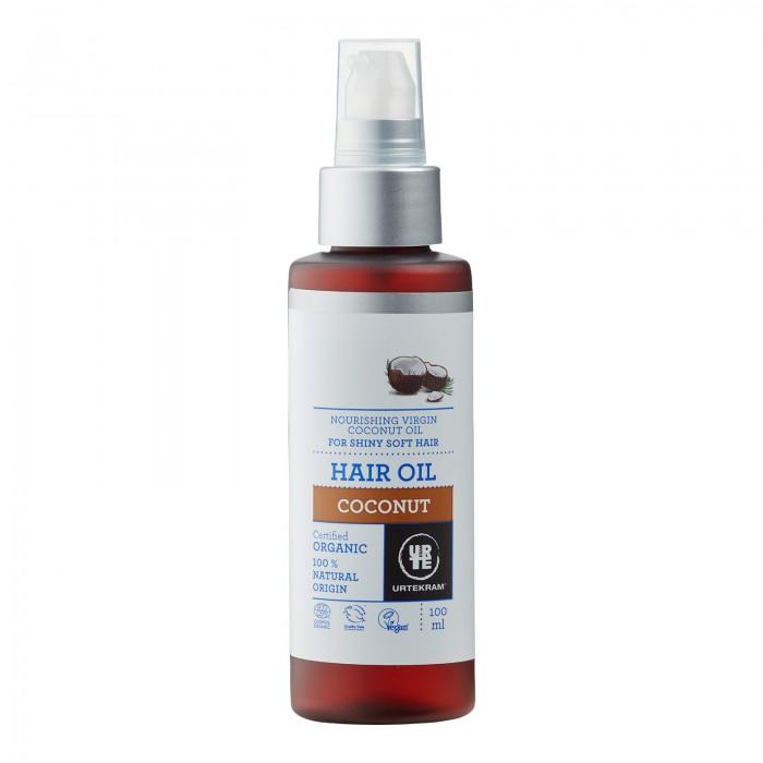 Косметика для мамы Urtekram Масло для волос Кокос 100 мл несмываемое масло для волос